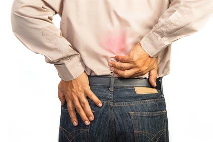 Man having lower back pain